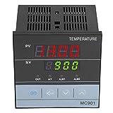 Controlador de temperatura PID, MC901 Controlador de temperatura PID digital K Tipo PT100 Entrada de sensor Relé Salida SSR