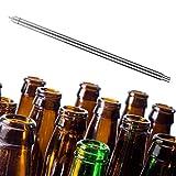 Duokon Llenadora de Botellas de Cerveza, 13.7in Acero Inoxidable Botella de Cerveza de Vino Llenado de Resorte Accesorios de llenado de Botellas de Cerveza para Cerveza casera