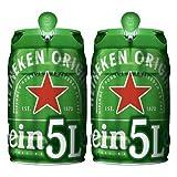 Heineken Cerveza Barril, 2 x 5L
