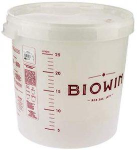 cubo fermentador de plastico de 25L